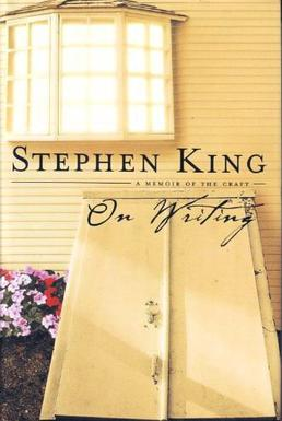 Cover of On Writing, which features the outside of a light-colored house and a closed cellar door.