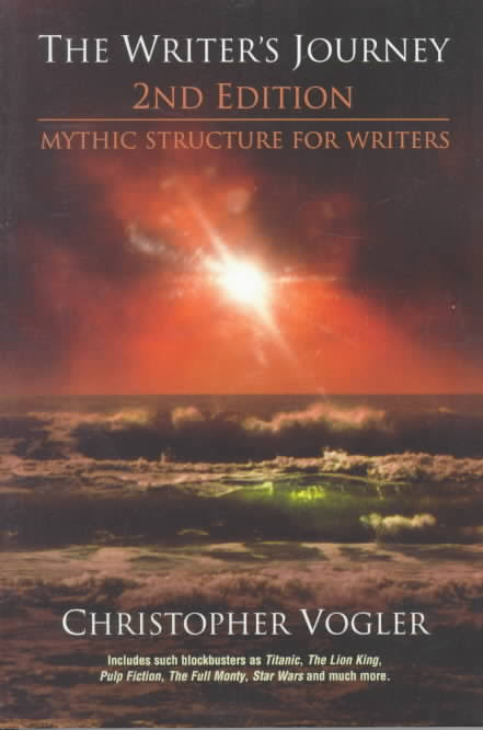 Cover of The Writer's Journey, which features a sunset or sunrise over an ocean